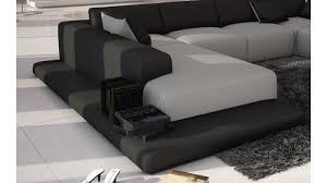 canapé gris simili cuir canapé d angle simili cuir gris clair et noir kherson gdegdesign
