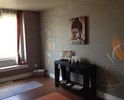 grey interior color for chinese meditation room decorating ideas