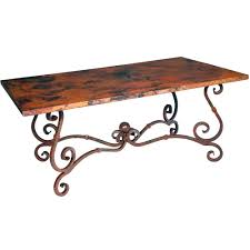 Wrought Iron Dining Room Furniture Cameron Rustic Dining Table Dining Tables Home Design Ideas