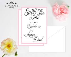 save the date card pink style save the date cards set of 10 vip craft studio