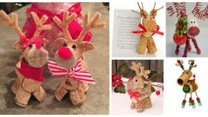 12 craft ideas for cork reindeer ornaments
