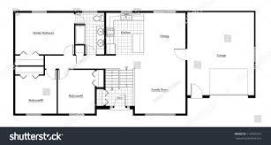 Split Level Homes Plans Split Level House Floor Plan Room Stock Illustration 112905727 In