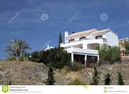 white mediterranean house stock photo image 25056660