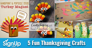 5 thanksgiving crafts signup by signup