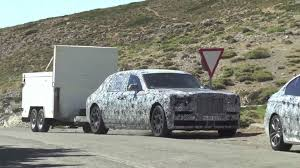 roll royce phantom 2018 2018 rolls royce phantom spied towing a cargo trailer at high