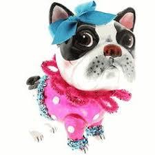kakie murray oliver ornament boston terrier