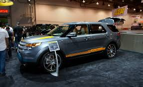three sema bound ford explorers set up for style not soccer