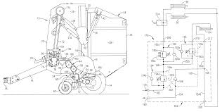 Patent Us6272825 Round Baler Having Hydraulically Sequenced