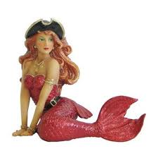 pirate mermaid coastal tree ornament
