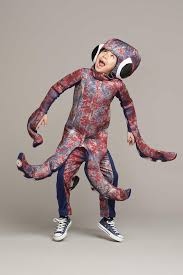 giant octopus costume for kids chasing fireflies