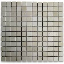 sample crema marfil 1x1 square mosaic tile polished crema marfil