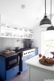 what color appliances with blue cabinets 15 blue kitchen design ideas blue kitchen walls