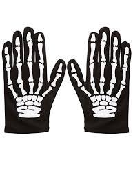 childrens bony skeleton gloves