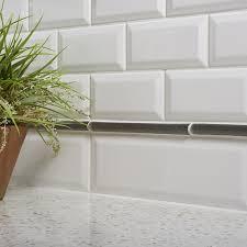 ceramic subway tiles for kitchen backsplash bevel subway ceramic tile kitchen bathroom wall backsplash