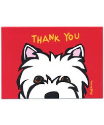 marc tetro boxed westie thank you cards
