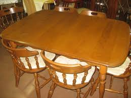 sold mid century rockport maple dining table and chairs photo