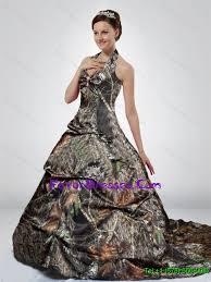 multi color wedding dress multi color court halter top camo wedding dresses