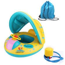 siege bebe gonflable gonflable parasol fauteuil jaune pvc sécurité anneau natation