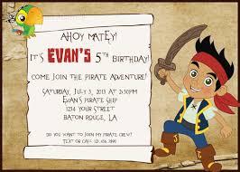 jake and the neverland birthday custom jake and the neverland invitation pirate