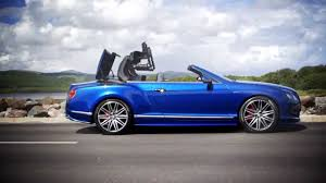 bentley blue bentley continental gt speed convertible sequin blue trailer