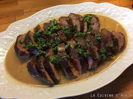 canard cuisine recette magret de canard au poivre vert la cuisine familiale un