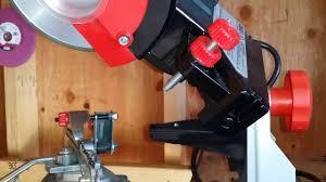Chainsaw Bench Grinder Cbn Grinding Wheel On My Oregon 520 120 Bench Grinder Youtube