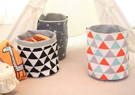 Top Fabric Decorative Storage Baskets Bins Toy And Clothing