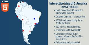south america dot map interactive map of south america by art101 codecanyon