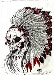 indian skull tatt by cjrocky on deviantart