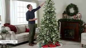 lighted christmas tree garland incredible ft flocked monteray pine prelit christmas tree with snow