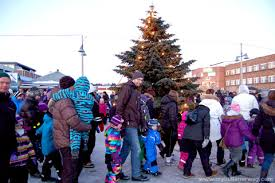 lighting of the christmas tree in alta my little norway