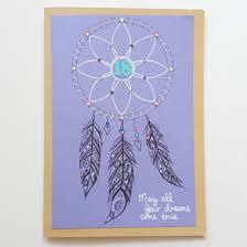 drawn dreamcatcher 18th birthday card