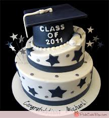 graduation cap cake topper 7 blue graduation cap cakes photo blue and silver graduation