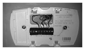 wiring diagram for a honeywell thermostat wiring wiring diagrams