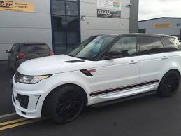 wrapped range rover sport range rover sport full wrap and bespoke stripes evolve automotive