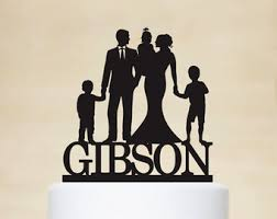 family wedding cake toppers family cake topper etsy