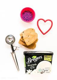 Heart Ice Cream Cookie Sandwich Recipe April Golightly