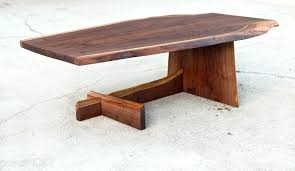 custom made live edge cantilever coffee table construction