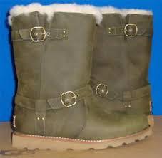 s ugg australia noira boots ugg australia noira pineneedle green waterproof leather boots size