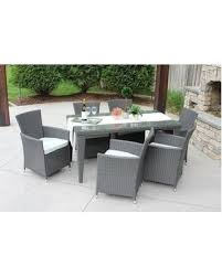 Rattan Patio Dining Set Deal Alert 7pc Outdoor Gray Wicker Patio Dining Set Std