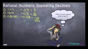 classification of numbers 3 of 6 terminating and repeating