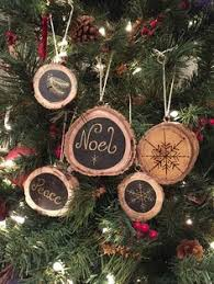 rustic santa ornament christmas wood burned saying be by coocoos