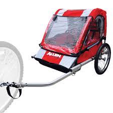 amazon com allen sports 2 child steel bicycle trailer red