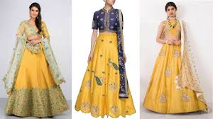 top designers gorgeous yellow lehenga designs designed by top designers