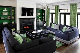 Blue Bookcases Modern Navy Blue Sectional Family Room Contemporary With Pop Of