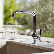 Kitchen Sink Faucets K 7505 Bl Cp Sn Kohler Purist Single Kitchen Sink Faucet With