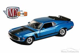 1970 Black Mustang 1970 Ford Mustang Boss 302 Blue With Black Stripes Castline M2