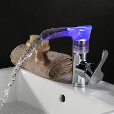 Bathroom Waterfall Faucet by Led Steel Sink Copper Bathroom Waterfall Faucet Lovdock Com