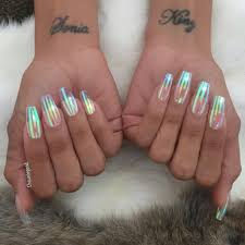 clear iridescent nail trend popsugar beauty