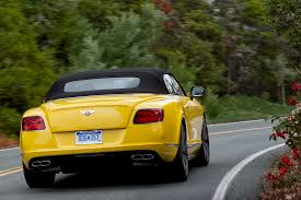 bentley yellow 2014 bentley continental gt v8 s review automobile magazine
